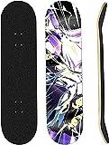Monopatín Completo Mini Cruiser de 31 x 8 Pulgadas, 9 Capas de Arce Canadiense, rodamiento ABEC-7 para Principiantes, Adolescentes, niños y niñas, monopatín de Anime de Cuatro Ruedas