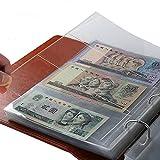 Brussels08 - 10 buste trasparenti per banconote, banconote, banconote, banconote, francobolli, raccoglitore di monete e fogli sfusi (nessun libro)