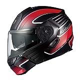 オージーケーカブト(OGK KABUTO)バイクヘルメット システム KAZAMI XCEVA(エクセヴァ) フラットブラックレッド (サイズ:M) 571702