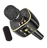 Karaoke Microphone Wireless, Dual Sing Duet Version 3300mAh Handhold Karaoke Mic Portable Wireless
