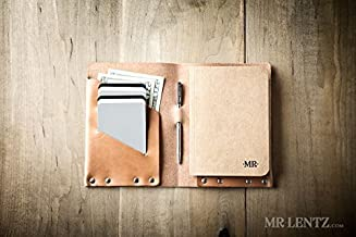 Leather Notebook Wallet (Made in USA by Mr. Lentz) 024