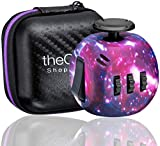 Shopperals Premium Quality Purple Galaxy Fidget Cube with Exclusive Matching Gift Case, Stress Relief Toy
