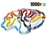 Lewo 1000 Piezas de Madera dominó Set Classic Bloques de construcción Juegos de Carreras