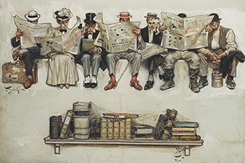 Joseph Christian Leyendecker Giclee Arte Carta Stampa Opere d'Artee Dipinti Poster Riproduzione(Giornali sui Libri)