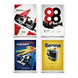 Automobilist McLaren MP4/4 - Ayrton Senna - Poster Set -