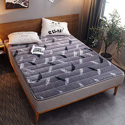 MYYU Tatami - Colchón de suelo, reversible, transpirable, suave, plegable, para futón, futón japonés Shiki, 4180 x 200 cm