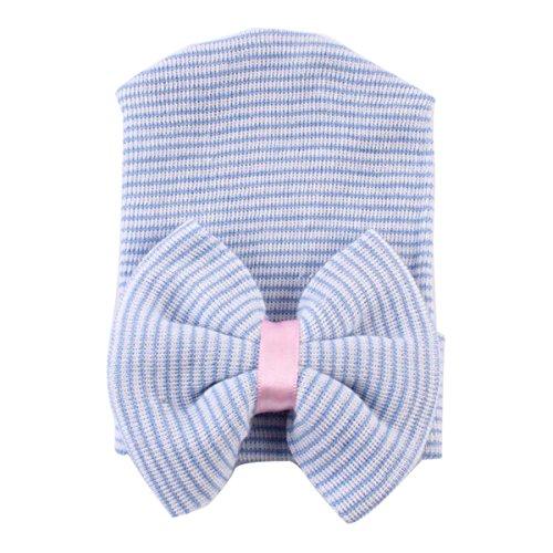 Butterme Nouveau-né Baby Nursery Beanie Baby Hat Cap Hat de l'hôpital avec Big Bow et Sparkle Gem
