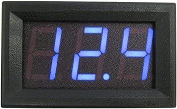 OTOTEC LED Rouge Num/érique Voltm/ètre testeur Voltage Affichage 0.56 DC 0-99V 3-Fils