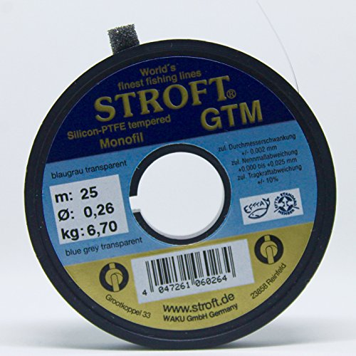 STROFT GTM 25 m Vorfachspule (0,26 mm/6,70 kg)