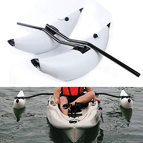 LiFuJunDong 2 White PVC Kayak Canoe Boat Fishing Outrigger Stabilizer & AMA Kit US Ship