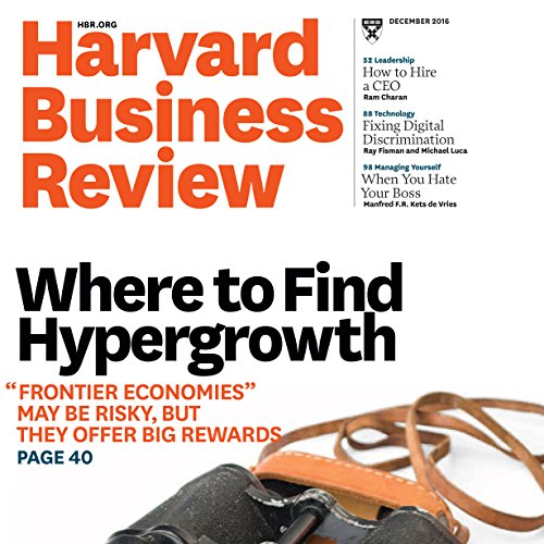 Harvard Business Review, December 2016 copertina