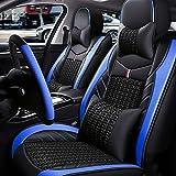 Rzj-njw PU Cubiertas de Asientos de Cuero para los Modelos Volkswagen VW Passat del Polo B6 B7 B8 Golf 5 6 7 Touran Tiguan Jetta Coche,Azul