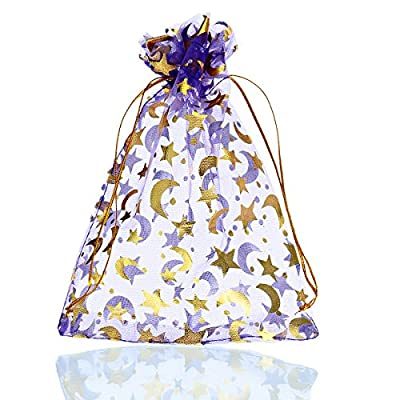 large organza Christmas gift bags