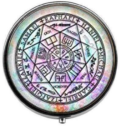 Joyero con 7 ángeles de protección de arco, para joyas, joyas, ángel de Michael – Pastillero de fotos – Pastillero de cristal – Caja de dulces