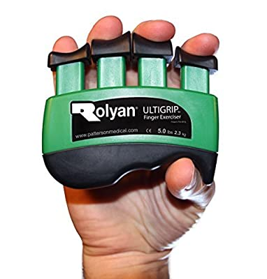 Rolyan Ultigrip Finger Exercisers, Finger & Grip Strengthener for Physical Therapy, Ergonomic Hand Workout Aid, Portable Hand Exerciser for Rehabilitation, Improve Hand Strength & Range of Motion