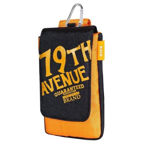 SOX 12.5x5.9x0.8cm Avenue klein hoesje voor smartphone - zwart/mosterd
