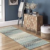 幾何学的な廊下の敷物、滑り止めの敷物、幅:60/80/100/120/cm、洗える寝室のリビングルームのホールの長い区域のカーペット(Size:60×300cm)