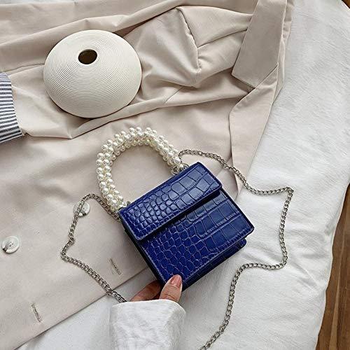 PANZZ Crossbody Bags Women Summer Handle Lady Shoulder Handbags, Blue, Mini