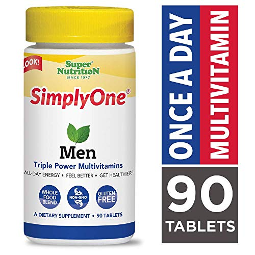 SuperNutrition, SimplyOne Multi-Vitamin for Men, High-Potency, One/Day Tablets, 90 Day Supply