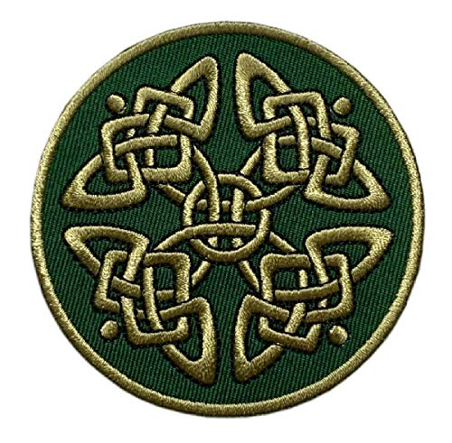 Celtic Knot Irish Tattoo Embroidered Patch [Iron on Sew on -3.0 inch - C3]