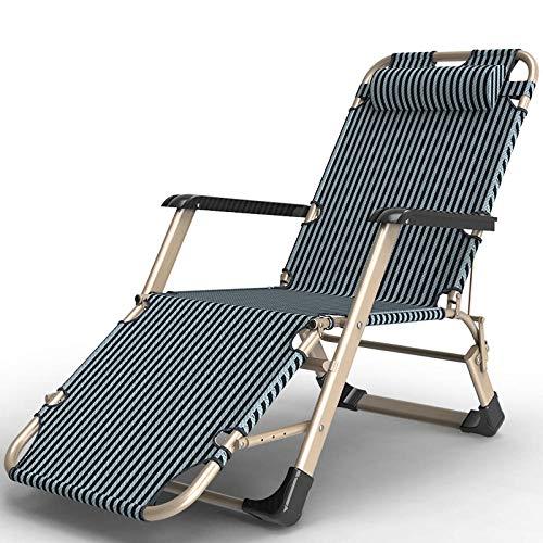 AKSHOME Relax-Liegestuhl, Die Sonnenliege Garten Liege Kann Zusammengeklappt Werden, Liegestuhl Garten Hohe Rückenlehne Balkon Stuhl-Champagner