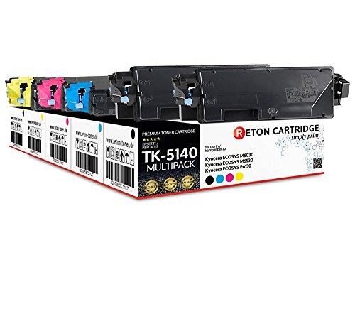 5 Original Reton Toner | 30% höhere Druckleistung | als Ersatz für Kyocera TK-5140 kompatibel mit : Kyocera ECOSYS M6030, ECOSYS M6530, ECOSYS P6130 | Geprüft nach ISO-Norm 19798 |