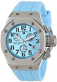 Swiss Legend Women's 10535-012 Trimix Diver Chronograph Light Blue Dial Light Blue Silicone Watch