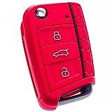 E-Senior Silicona Funda para llave de coche (compatible con SEAT Leon...