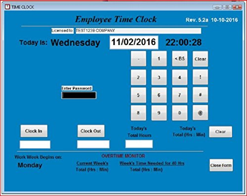 Employee Time Clock Software   S...