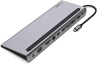 Belkin USB C Hub, 11-in-1 MultiPort Adapter Dock with 4K HDMI, DP, VGA, USB-C 100W PD Pass-Through Charging, 3 USB A, Giga...