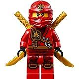 Ninjago Lego Mini Figura Kai (roja Ninja Espada) con Soporte y Dos katanas (Espadas)