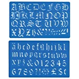 Helix - Old English Lettering Stencil Template - Upper and Lower Case, Numbers, and Symbols - 30mm