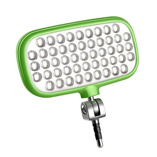 Metz mecalight LED-72 smart in Grün   LED-Videolicht für Smartphones & Tablets mit 51 LEDs und 72 LUX, eigenen Lithium-Polymer-Akku, 3 Modi, für Fotos oder Videos geeignet etc.