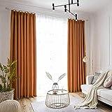 QYDF Geeignet für Vorhänge Wohnzimmer Balkon Zimmer 1 Rideau Panels Wärmedämmung, Anti-Noise Blackout dicht Staub Cozy Deluxe Leichtes atmungsaktiv,I,200X270cm(79X106in)