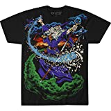 Liquid Blue unisex adult Vintage Wizard Jumbo Fantasy Print Short Sleeve T-shirt T Shirt, Black, XX-Large US