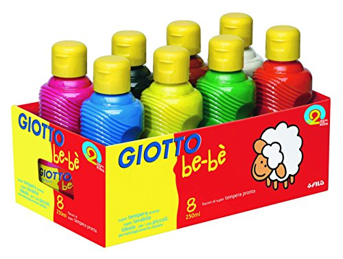 Omyacolor-Gouache Giotto Bebe - Lot De 8 Flacons De 250ml [Jouet]