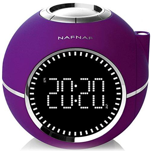 NAF NAF CLOCKINE V2 - Radio réveil avec projection de l'heure,...