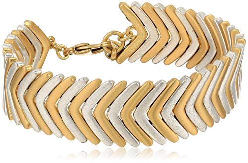 Lucky Brand Women's Two Tone Arrow Bracelet, Two Tone, One Size