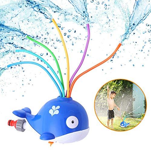 ZWPY Juguete De Rociadores,Juguete Ballena Fuente,Juegos De Agua para Niños Jardin,Juguete De Agua De Rociadores,Césped, Juegos Al Aire Libre, Jardín Aspersor