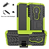 LiuShan Moto G7 Play Case, [Shockproof] Heavy Duty Combo
