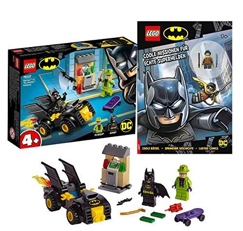Lego DC Batman Set: 76137 - Batman vs. der Raub des Riddler + Coole Missionen für echte Superhelden, ab 4 Jahren