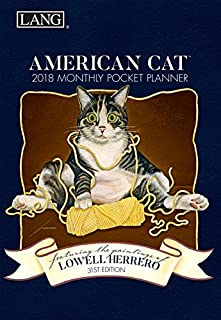 American Cat 2018 Monthly Pocket Planner