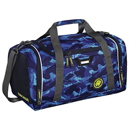 """Coocazoo Sporttasche SporterPorter """"Brush Camou"""", blau, Nasswäschefach, Seitentasche, Schuhfach, Abnehmbarer, Verstellbarer Schultergurt, für Jungen ab der 5. Klasse, 20 Liter"""