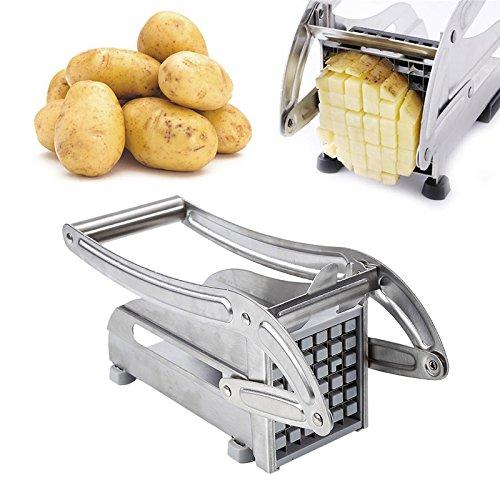 MUPAI Kartoffelschneider Pommesschneider Pommes Frites Stifter Edelstahl Schneider