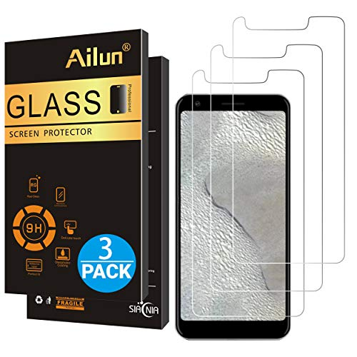 Ailun Screen Protector for Google Pixel 3A 5.6 Inch 3Pack 0.25mm Tempered Glass for Google Pixel 3A Anti Scratch Case Friendly
