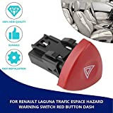 CloverLucky Emergency Hazard Flasher Warning Light Switch Warnblinker Schalter For Renault Laguna Master Trafic II Vauxhall 01-14