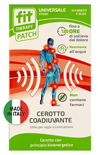 FIT Therapy Patch   Dispositivo medico. Cerotto universale   Allevia il dolore in caso di dolori muscolari e articolari   10 cerotti