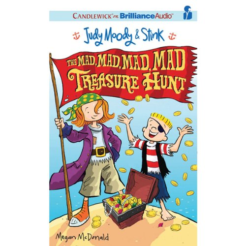 Judy Moody & Stink: The Mad, Mad, Mad, Mad Treasure Hunt audiobook cover art