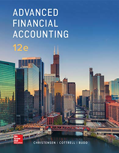 Compare Textbook Prices for Advanced Financial Accounting 12 Edition ISBN 9781260091700 by Cottrell, David,Christensen, Theodore,Budd, Cassy