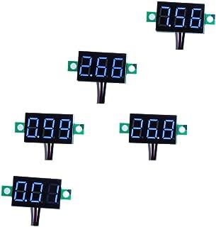 "bayite 3 Wire 0.36"" DC 0~30V Digital Voltmeter Gauge Tester Blue LED Display Panel Mount Car Motorcycle Battery Monitor Vo..."